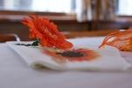 Decoration wedding napkins and flower