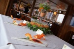 Decorated wedding top table