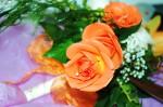 Bridal bouquet with orange roses