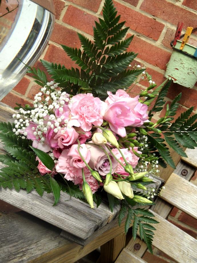 Dusky pink bridesmaid bouquet