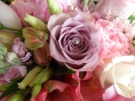 Lilac roses with pearl inset