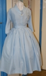 Pale blue 1950s full-skirted dress