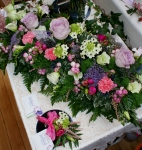 Floral table display and corsage