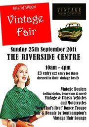 Poster advertising vintage fair