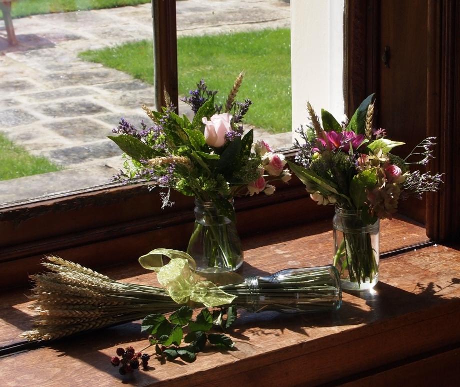 Floral window display