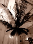 Ostrich feather wedding table centre pieces