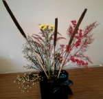 Place your flowers to resemble rockets shooting into the sky